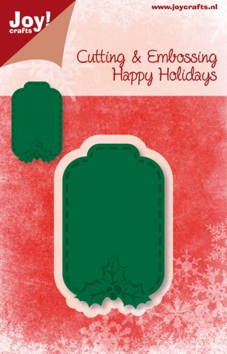 Joy Stencil - Happy Holidays - Hanger Label