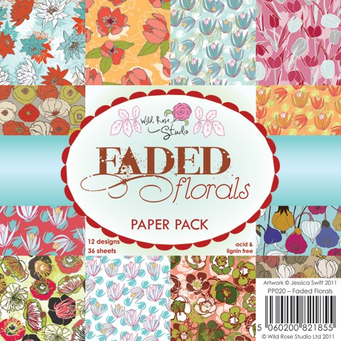 Wild Rose Studio Paper Pad - Faded Florals