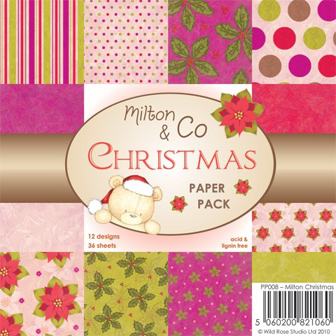 Wild Rose Studio Paper Pad - Milton & Co Christmas