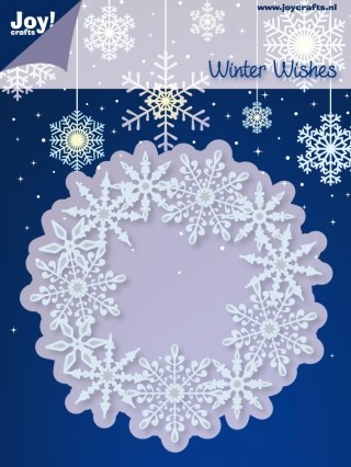 Joy Stencil - Winter Wishes - Cirkel IJskristallen