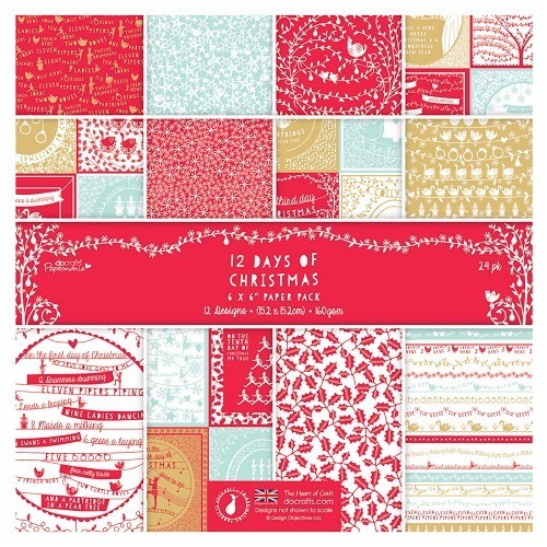 Papermania Paper Pack - 12 Days of Christmas