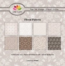 Paper Pad Dixi Craft - Floral Pattern Brown