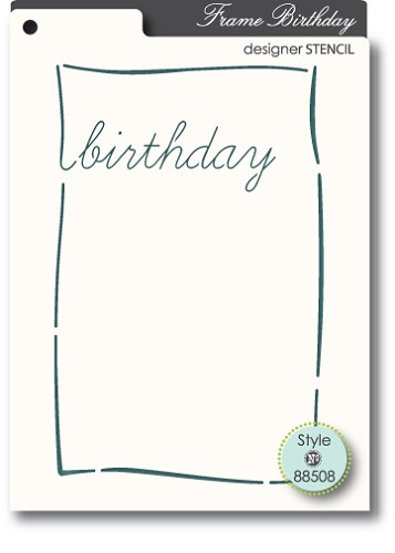 Memorybox Stencil - Birthday