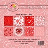 Paper Pad Dixi Craft - Heart Pattern Red