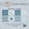 Paper Pad Dixi Craft - Heart Pattern Teal Blue