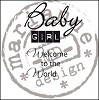 Clearstamp Marianne Design - Baby Girl