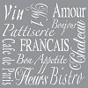 Americana Decor Stencil - French Living