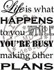 Clearstamps Marianne Design - Life is What Happens