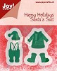 Joy Stencil - Happy Holidays - Santa`s Suit