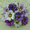 Mulberry Paper Flowers - Chrysanthemums - purple/lilac/white