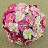 Mulberry Paper Flowers - Apple Blossoms - mixed pink