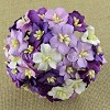 Mulberry Paper Flowers - Apple Blossoms - mixed purple/lilac