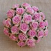 Mulberry Paper Flowers - Open Roses - 15 mm - 2-tone baby pink