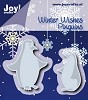 Joy Stencil - Winter Wishes - pinguins
