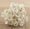Mulberry Paper Flowers - mini sweetheart blossom - white
