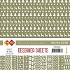 Card Deco Designer Sheets - Christmas Edition - olijfgroen