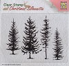 Nellie Snellen Clearstamp - Christmas Silhouette - Pine Trees