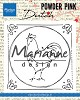 Clearstamp Marianne Design - Powder Pink - haan