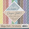 Card Deco Designer Sheets - Mega Pack 5 - stripes bright colors