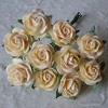 Mulberry Paper Flowers - Open Roses 10 mm - autumn gold