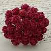 Mulberry Paper Flowers - Open Roses 10 mm - coral red