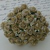 Mulberry Paper Flowers - Open Roses 10 mm - light cocoa