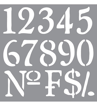 Americana Decor Stencil - Olde World Numbers