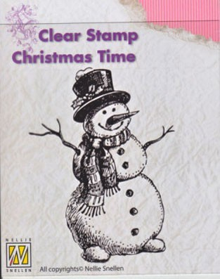 Clearstamp Nellie Snellen - Christmas Time - Snowman