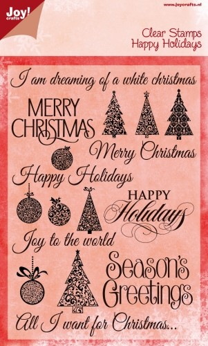 Joy Clearstamps - Happy Holidays