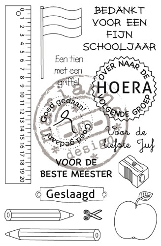 Clearstamps Marianne Design - School