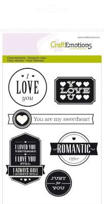 Craft Emotions Clearstamps - Love Lyrics