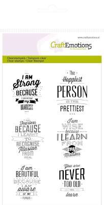Craft Emotions Clearstamps - Labels Lyrics (English)