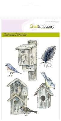 Craft Emotions Clearstamps - Botanical Summer - Bird Houses
