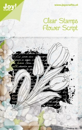 Joy Clearstamp - Flower Script
