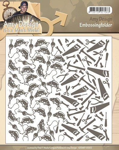 Amy Design Embossing Folder - It`s a Man`s World