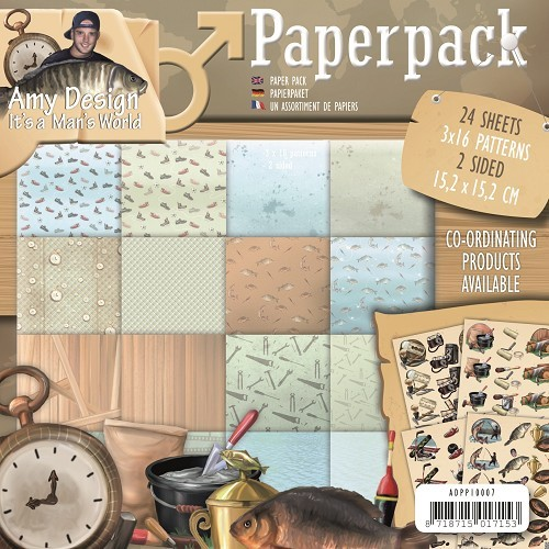 Amy Design Paper Pack - It`s a Man`s World