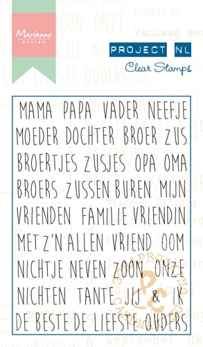 Marianne Design Project NL - Clearstamps - stamboom