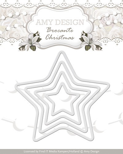 Amy Design Stans - Brocante Christmas - mini star frames