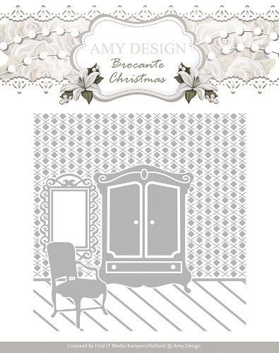 Amy Design Embossing Folder - Brocante Christmas