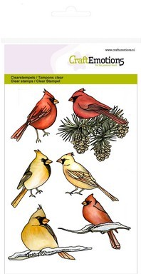 Craft Emotions Clearstamps - cardinal birds