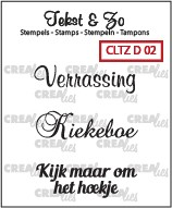 Crealies Clearstamp - Tekst & Zo D02