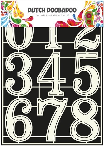 Dutch Doobadoo Stencil Art A4 - Numbers 2