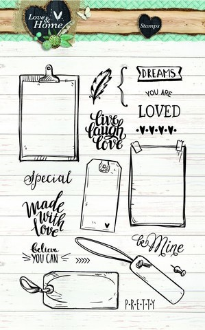Clearstamps Studio Light - Love & Home STAMPLH126