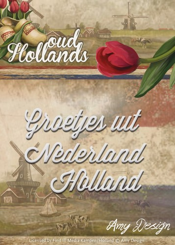 Amy Design Stans - Oud Hollands - Groeten uit Nederland Holland