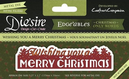 Die`sire Edge`ables - Only Words - Whishing you a Merry Christmas