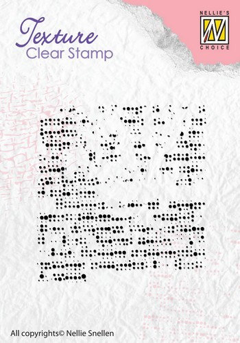 Clearstamp Nellie Snellen - Texture - Fabric