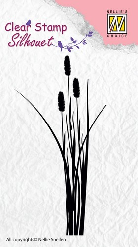Clearstamp Nellie Snellen - Silhouet - Ears of Grass 2