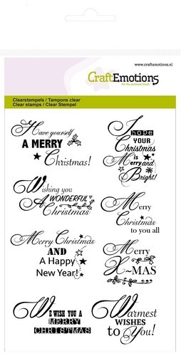 Craft Emotions Clearstamps - ENG christmas wishes