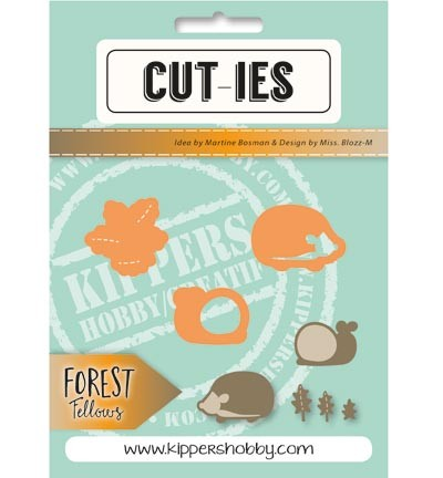 CUT-IES Stans - Forest Fellows - snail / hedgehog / autumn leaves