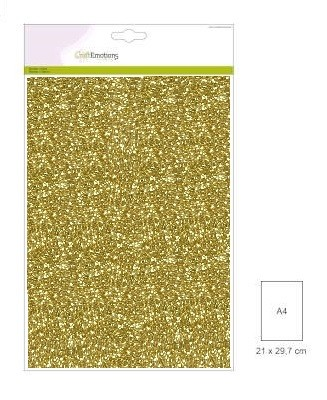 Craft Emotions Glitterpapier - goud
